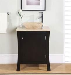 26 inch modern vessel sink bathroom vanity in espresso