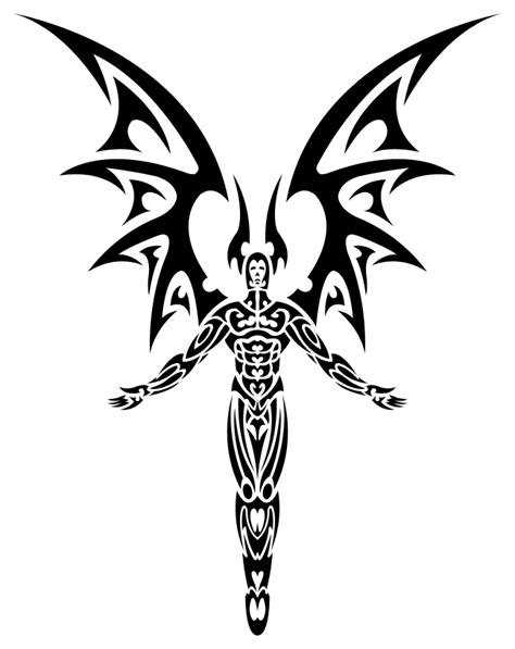 tribal devil tattoo designs tribal evil pictures to pin on tattooskid