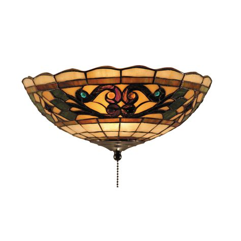 stained glass ceiling fan light kit landmark lighting 990 e tiffany buckingham 2 light fan kit