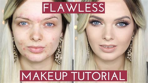 Natural Makeup Tutorial Acne | acne coverage flawless foundation makeup tutorial
