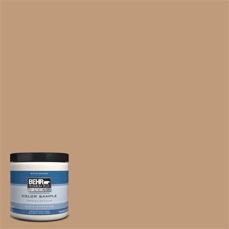 behr premium plus ultra 8 oz hdc fl15 01 pumpkin drizzle interior exterior satin enamel paint