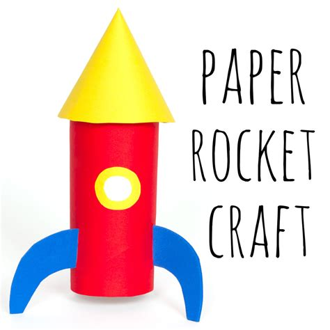 How To Make A Spaceship Out Of Paper - paper space rocket craft doodle and stitch