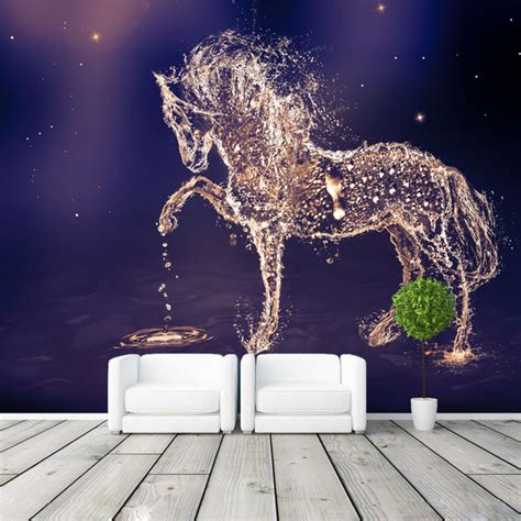 galaxy wallpaper for bedroom aliexpress com buy fantasy horse photo wallpaper custom