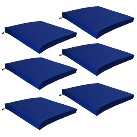 The Luxe Chairpad Blue multipacks outdoor waterproof chair pads cushions only garden patio furniture ebay