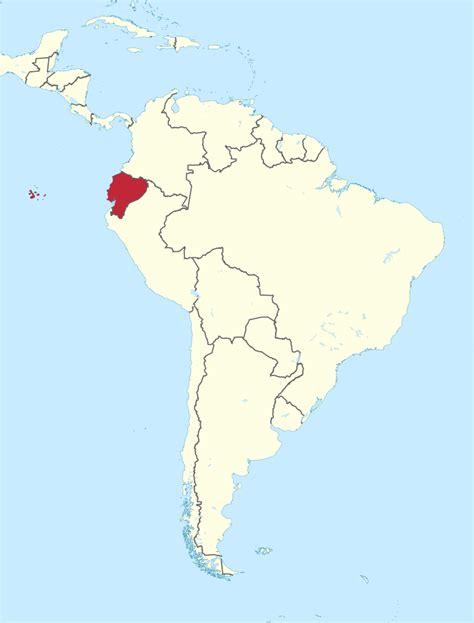 ecuador map in south america file ecuador in south america galapagos islands mini