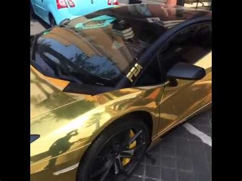 Aubameyang Lamborghini by Aubameyang Lamborghini Gold Youtube