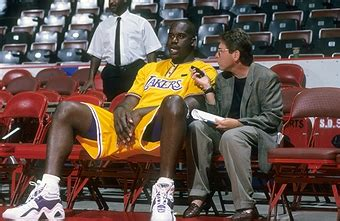 shaquille o neal bench press los angeles lakers vs denver nuggets pictures getty images