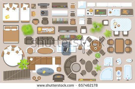 17 tables and chairs vector plan view images free floor icons set interior top view isolated stock vector