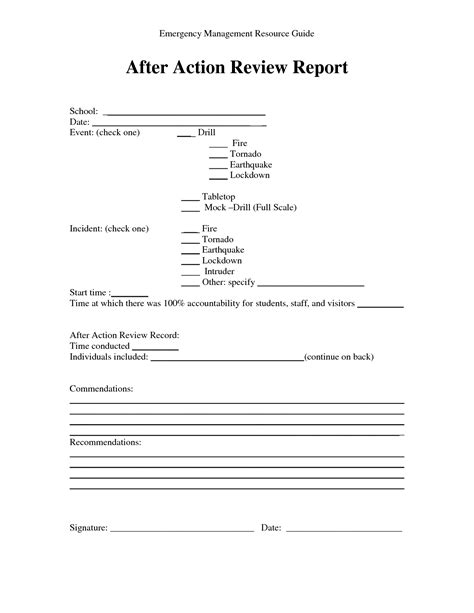 us army after action report exle