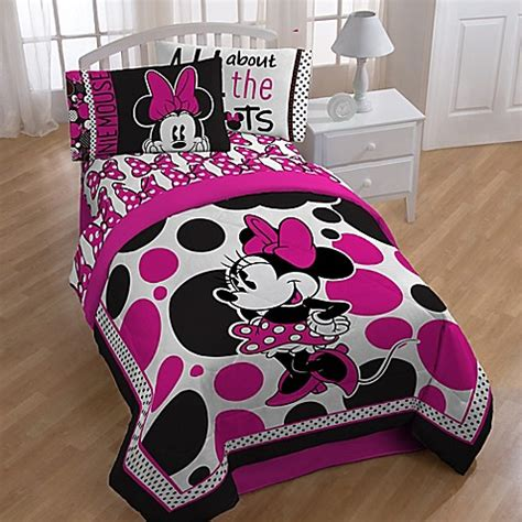 Rok Minnie minnie quot rock the dots quot bedding collection buybuy baby