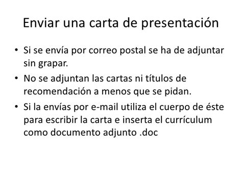 Modelo Carta De Presentacion Enviar Curriculum Ejemplos De Carta De Presentaci 243 N
