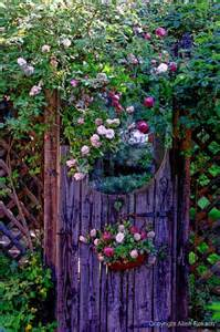 Garden Doors Garden Gate W Flowers Green Thumbs Sometimes