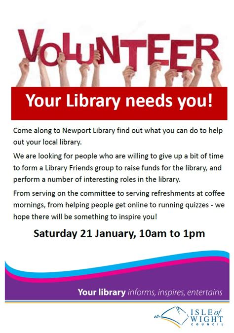 Library Volunteer by Could You Be A Library Volunteer Newport Parish Council Isle Of Wight