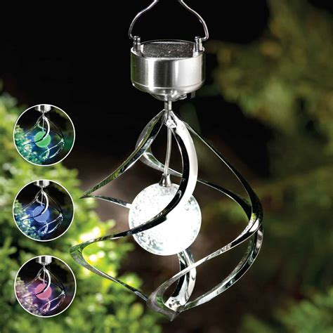 solar light wind spinners solar saturn wind spinner colour changing light garden ebay