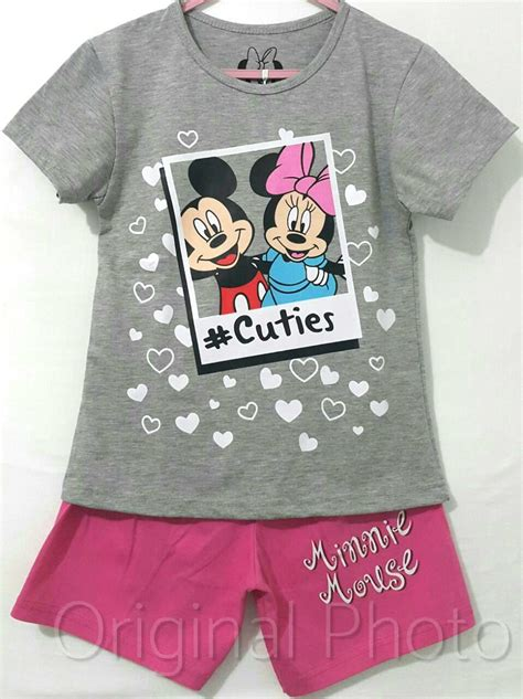 Setelan Mickey Disney setelan mickey minnie cuties abu 1 6 disneys grosir