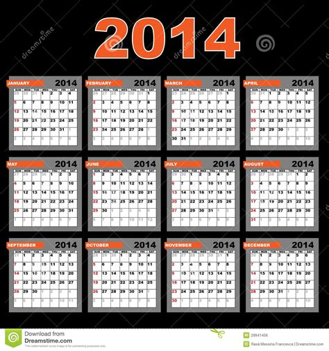 2014 new year calendar malaysia calendario 2014 illustrazione vettoriale immagine di