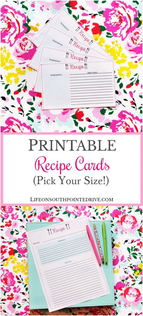 elr printable recipe journal 956 best planners productivity time management skills