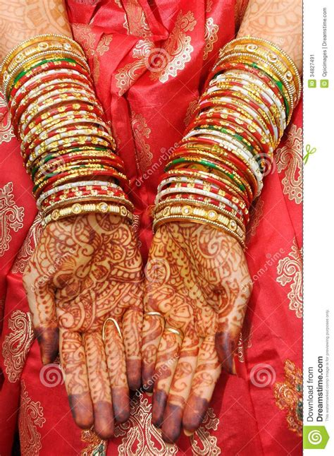 beautiful hands of an india bride stock image image