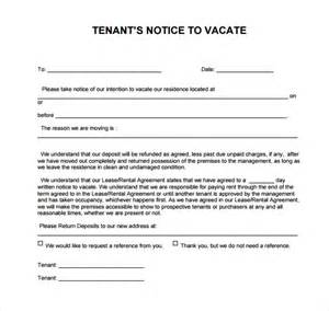 free 30 day notice to vacate template 24 free eviction notice templates excel pdf formats