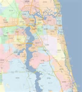 Jacksonville Fl Zip Code Map jacksonville fl zip codes