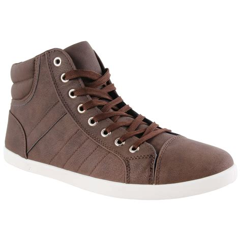 designer sneakers mens new mens designer lace up high hi top fashion trainers
