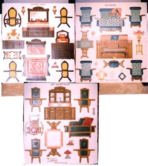 How To Make Paper Dollhouse Furniture - paper cutouts for furniture paper dollhouse furniture