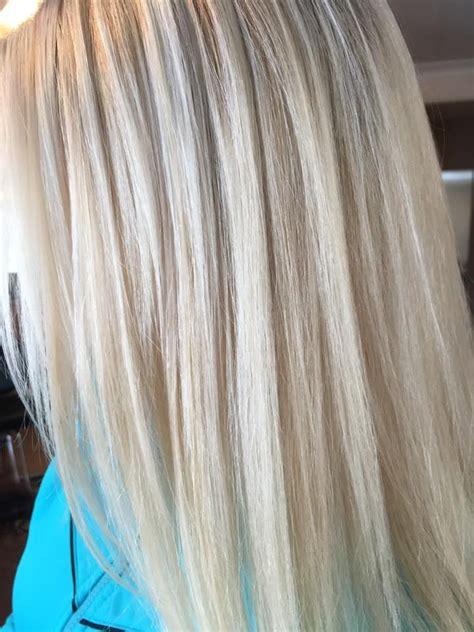 platinum blonde with lowlights blonde waterfall highlights platinum blonde with