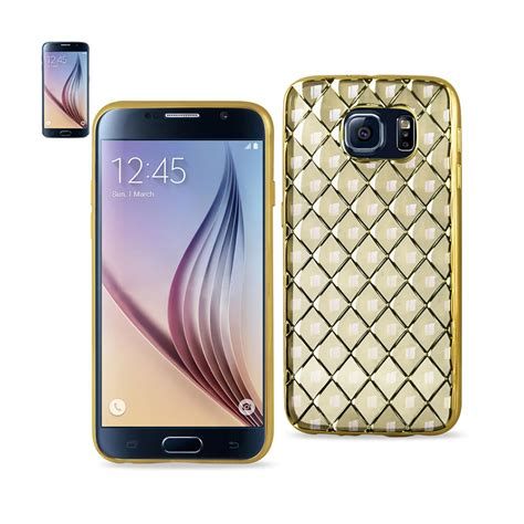 3d Grip For Samsung S6 saapni reiko samsung galaxy s6 3d rhombus pattern tpu with shiny frame in