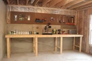 Storage Work Bench Weekend Project Basement Workshop How To Nest For Less