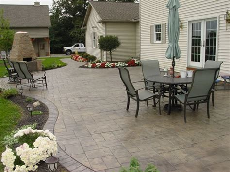 backyard cement designs photo gallery concrete patios orrville oh the