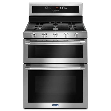 Oven Gas Stainless Steel maytag 30 in 6 0 cu ft oven gas range with true