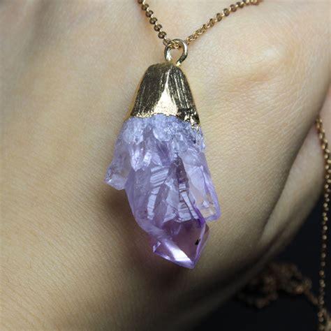 wholesale unique amethyst purple crystal18k gold