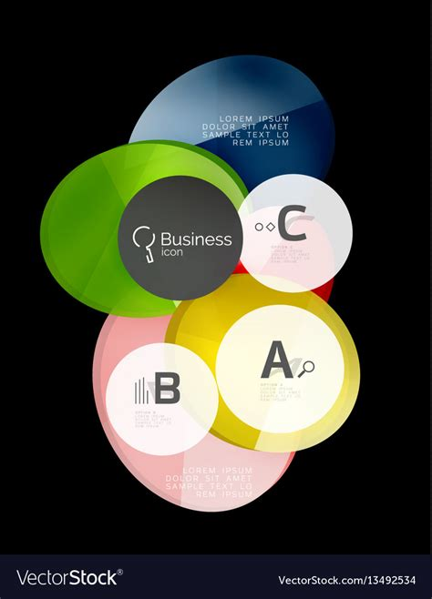glass design elements 25 vector glass color circles infographic elements on vector image