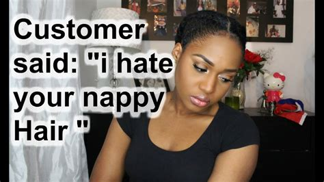 How To Make Your Hair Nappy Without A Sponge | story time customer said i hate your nappy hair part 1