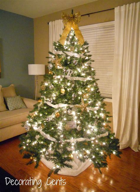 howtoput a star on a christmastree decorating cents gold and silver tree