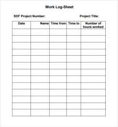 5 log sheet templates formats examples in word excel - Community Service Hours Certificate Template