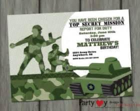 printable army invites free