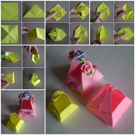 How To Make Paper Basket For - diy origami paper basket