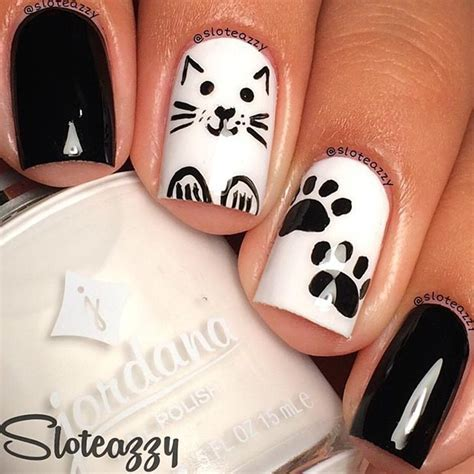 Black and White Nail Art Designs   Perfect Match For Any Parties   Noted List