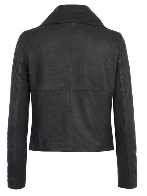 drape jacket muubaa sinoia black leather drape jacket