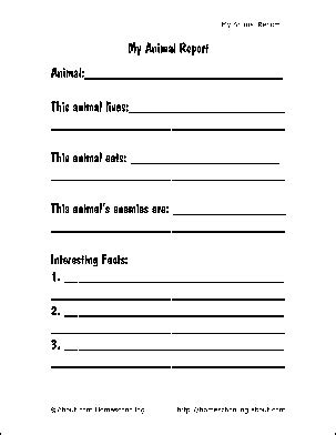 science book report template 38 best animal report images on science ideas
