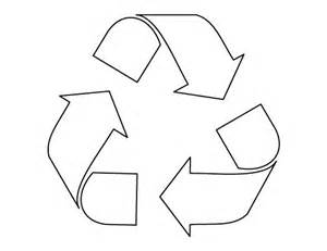 recycle sign template recycle symbol pattern use the printable outline for