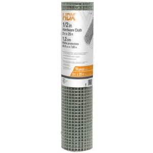 hardware cloth home depot hdx 1 2 in x 2 ft x 25 ft hardware cloth 308224hd the