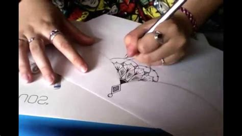 drawing a sternum tattoo design how to tutorial youtube