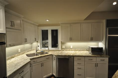 how to install light under kitchen cabinets installing under cabinet led strip lighting kitchen