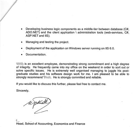 Visa Letter Employer recommendation letter for visa application from employer