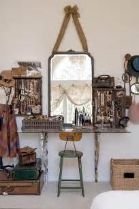 Full length mirror with jewelry storage inside bedroom eclectic with