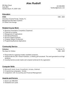 Exle Of Resume With No Experience by No Experience Required No Experience Resume Sle High School Time Resume With No