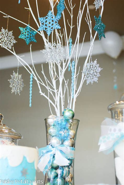winter centerpieces winter 9th birthday paper crush