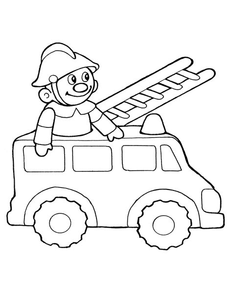 Coloring page - Toy fire truck